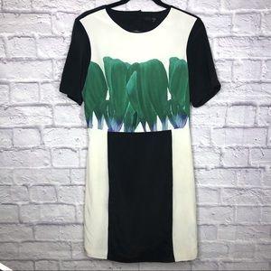 Tibi Silk Black white Open Back Dress